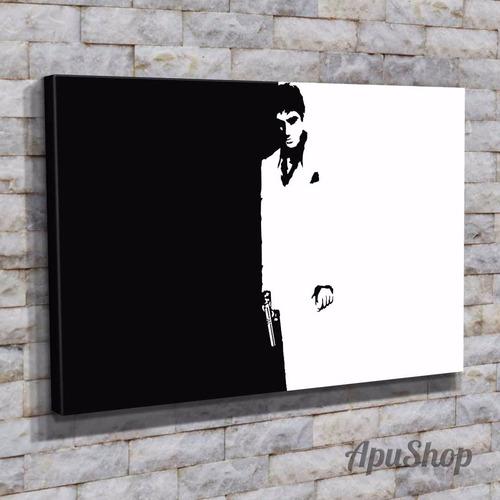 cuadros lienzo 75x50 película scarface caracortada y más