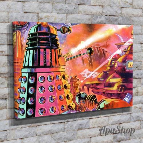 cuadros lienzo canvas 75x50 modernos serie tv doctor who