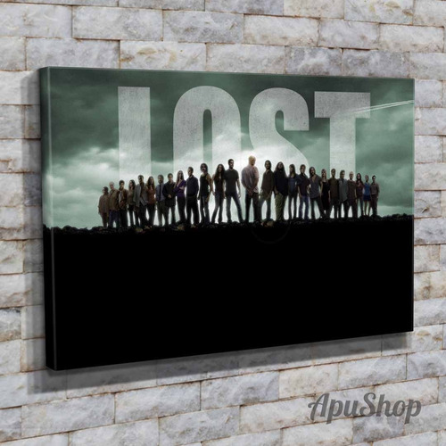 cuadros lienzo tela canvas 60x40 modernos serie tv lost