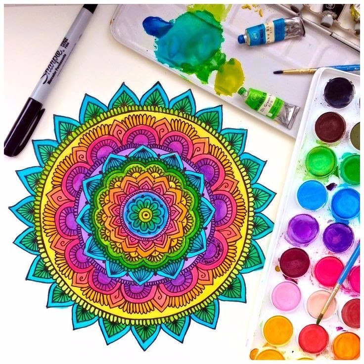 Awesome Cuadros Mandalas Para Pintar, 25x25 Cm   Lienzo De Algodón