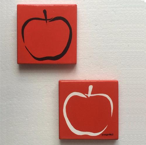 cuadros manzanas arte moderno contemporaneo pintado a mano