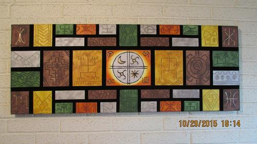 cuadros mapuches etnicos acrilico sobre tela