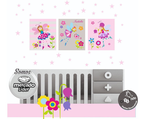 cuadros mdf y estrellas decoración cuarto bebe niños niñas