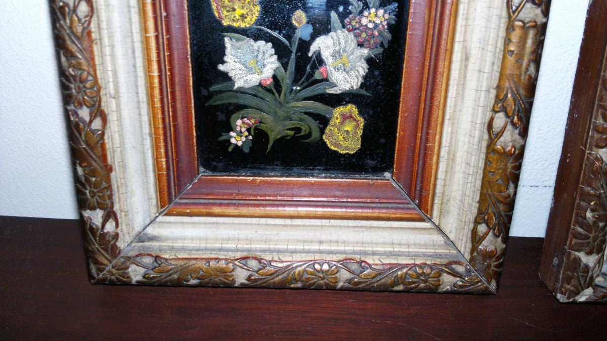 Cuadros Miniatura Pintada A Mano Óleo S/vidrio Marco Francés - $ 700 ...