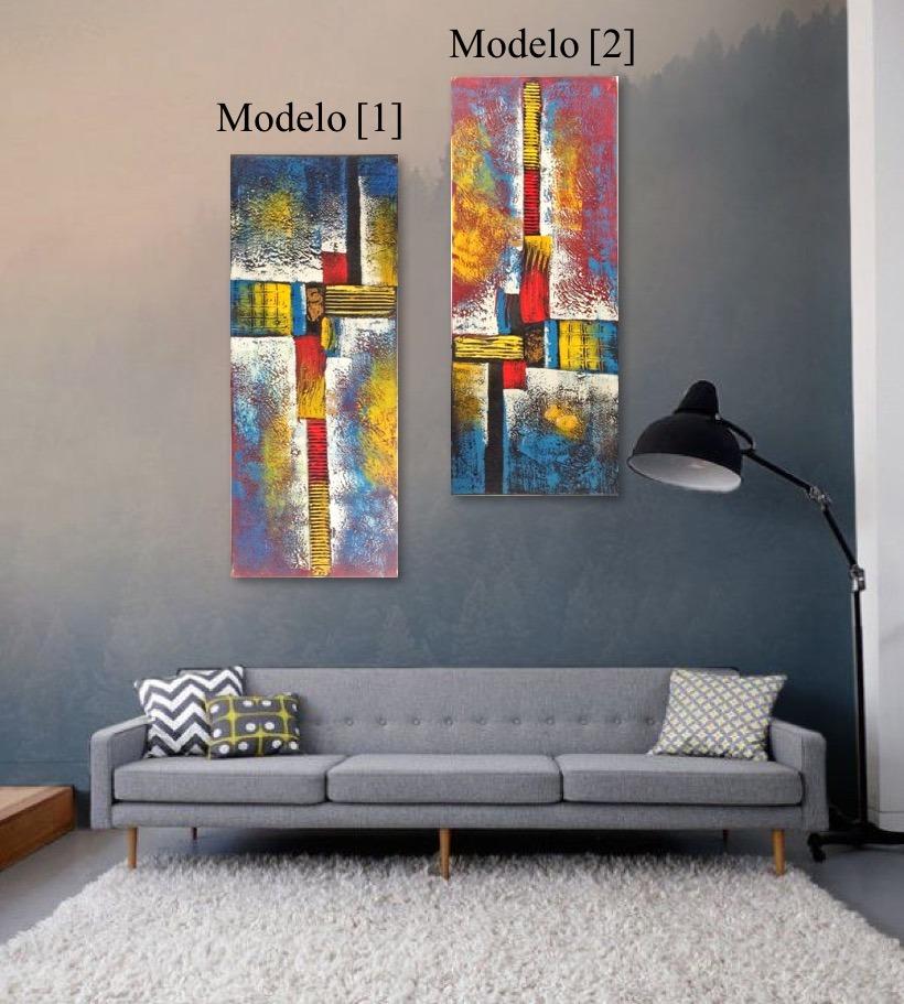 Cuadros Modernos Abstractos Al leo Con Relieve 100 X 40 72000