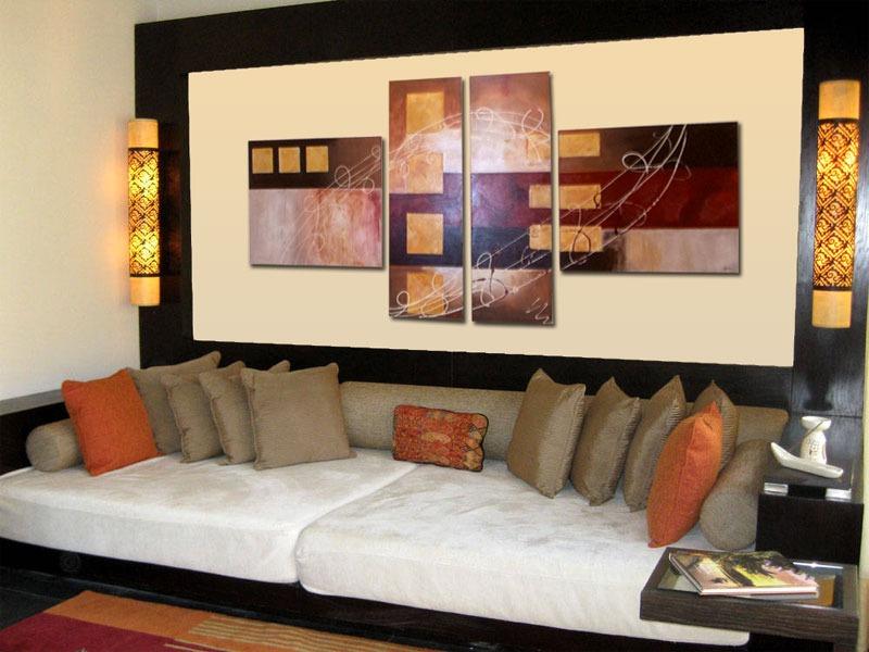Cuadros modernos abstractos minimalistas pintados a mano - Cuadros decoracion salon ...