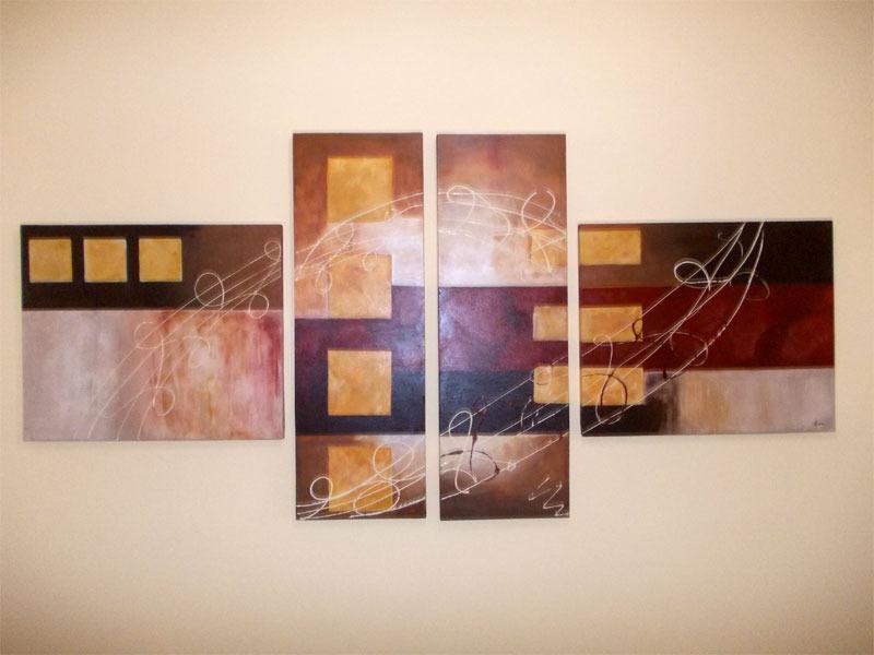 Cuadros modernos abstractos minimalistas pintados a mano for Donde puedo comprar cuadros decorativos