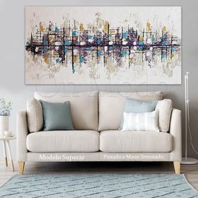 Cuadros Modernos Abstractos Pintados A Mano Sillon Living Texturados