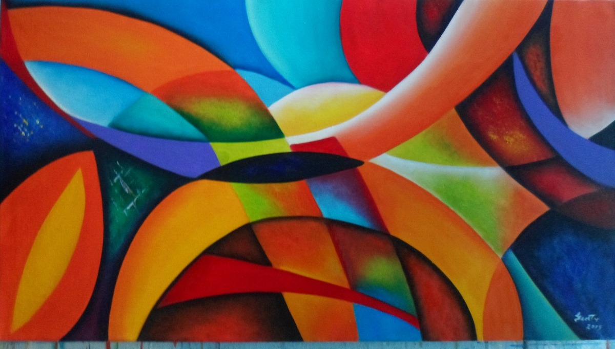 Cuadros modernos abstractos por encargo bs - Cuadros modernos con mucho color ...