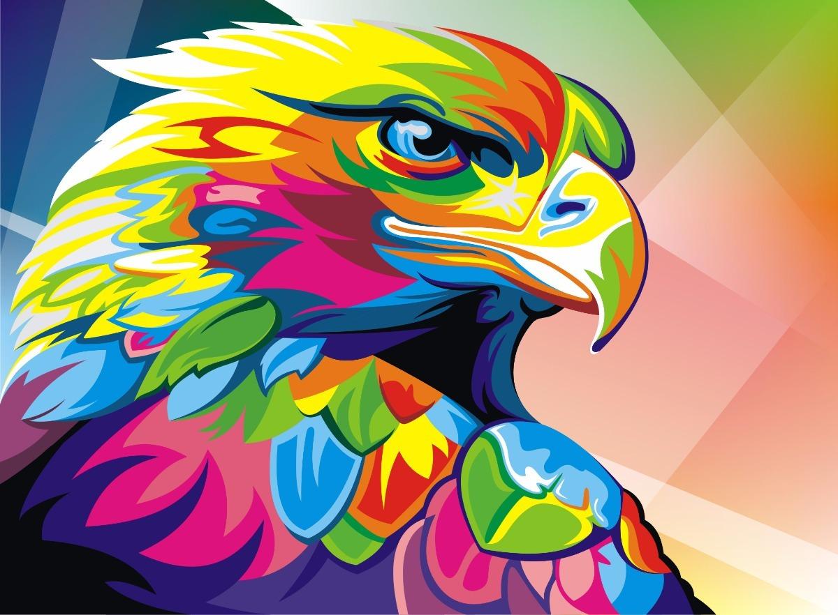 Cuadros Modernos Animales Selva Full Color - Ave Pajaro - $ 284,99 ...