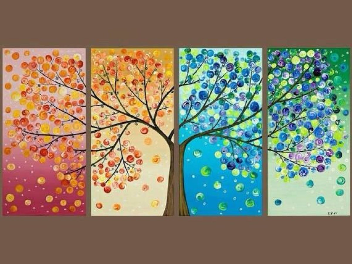 Cuadros Modernos árbol De La Vida 160 X80 380000 En Mercado Libre
