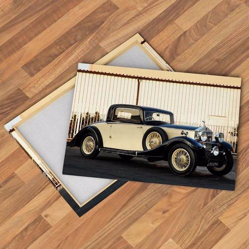 cuadros modernos autos rolls royce clásico cadillac 90x60