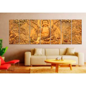 Cuadros Modernos Bambu Zen Relax Buda Meditacion 1,40 Mt
