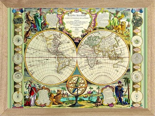 cuadros modernos ciudades mapas de 30 x 40 cm.  l810