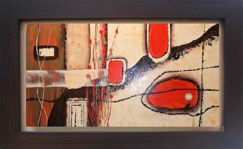 cuadros modernos con marco detalles en alto relieve s