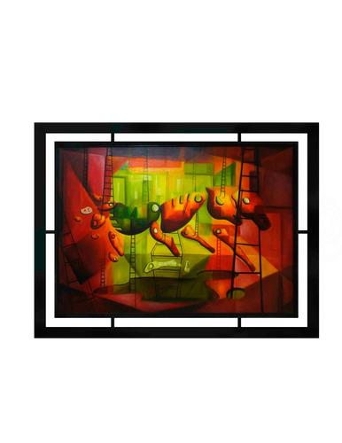 cuadros  modernos de lujo alta calidad marco madera 160x80