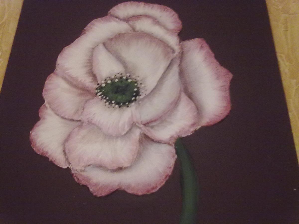 cuadros modernos flores relieve y textura
