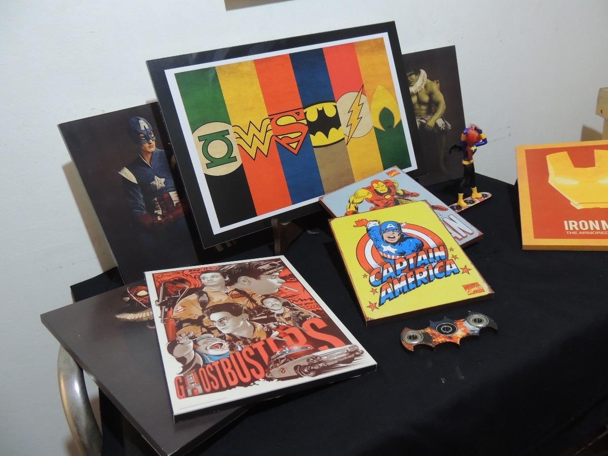 Cuadros Modernos Liga De La Justicia Capitan America Ironman  # Muebles A Medida La Justicia