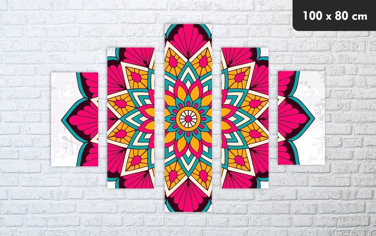 Cuadros Modernos Mandalas Colores Decorativos 93000 En Mercado
