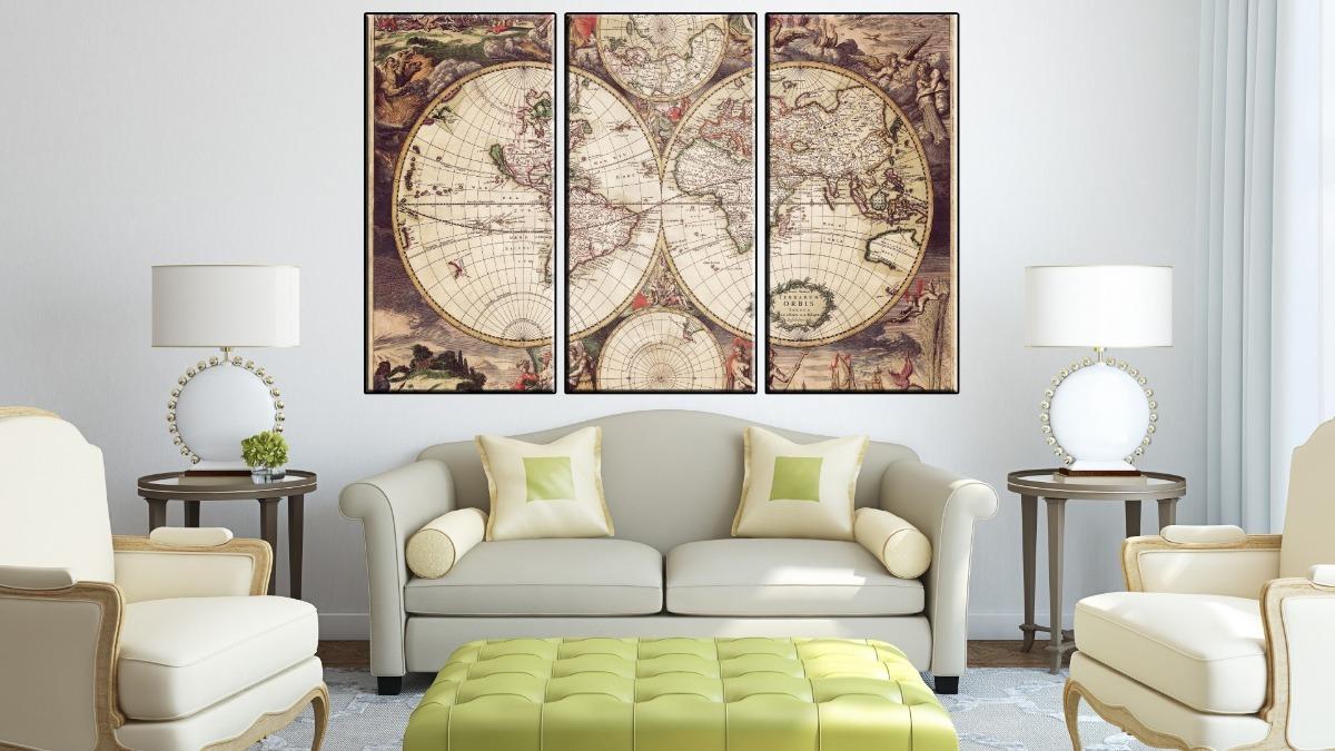Cuadros Modernos Mapa El Senor De Los Anillos 120x57 Cm A17