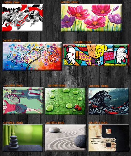 cuadros modernos .material lienzo. calidad.120x40-90x60 cm
