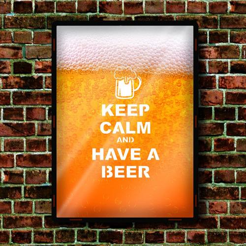 cuadros modernos porta chapitas cerveza liquido 38x28cm