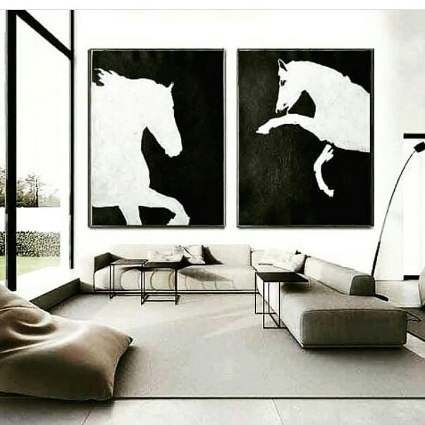 Cuadros Modernos Con Relieve Cuadro Moderno Texturado Negro Y Plata - Cuadros-en-relieve-modernos