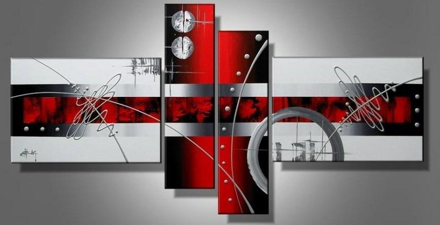 Cuadros modernos rojo gris blanco negro s 390 00 en - Cuadros decorativos para cocina abstractos modernos ...