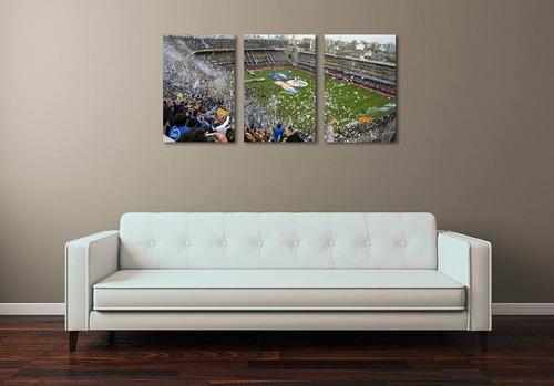 cuadros modernos - triptico personalizado xl total 90x44 cm