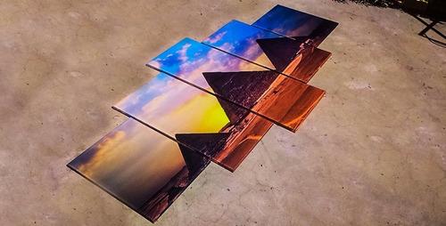 cuadros modernos tripticos 2x1 de budas