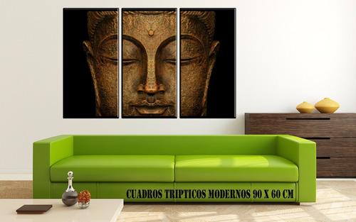 cuadros modernos tripticos abstractos exclusivo canvas 90x57