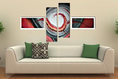 cuadros modernos trípticos, dípticos, florales, abstractos