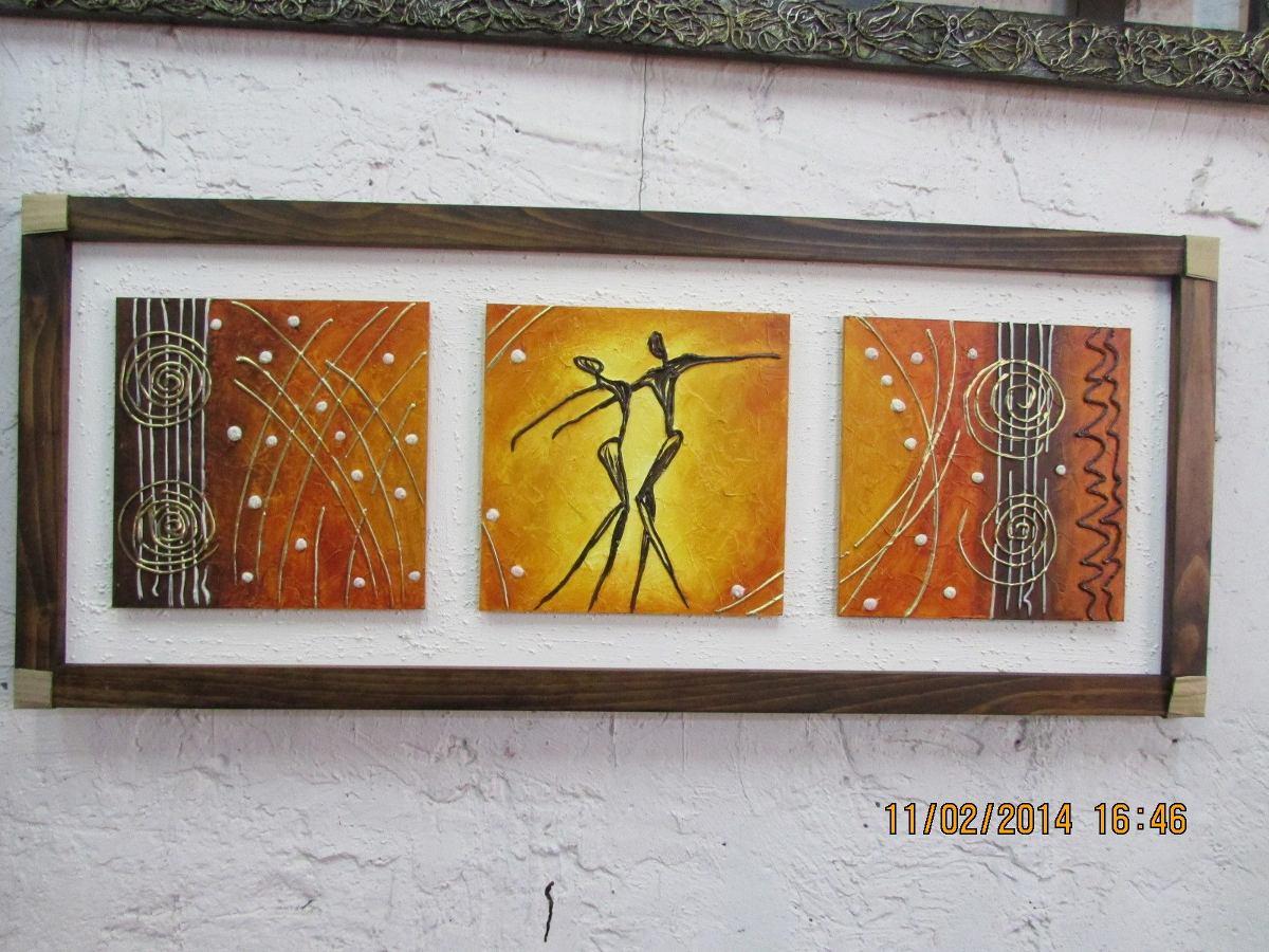 Cuadros modernos tripticos enmarcados parejas y familia for Enmarcar cuadros precios