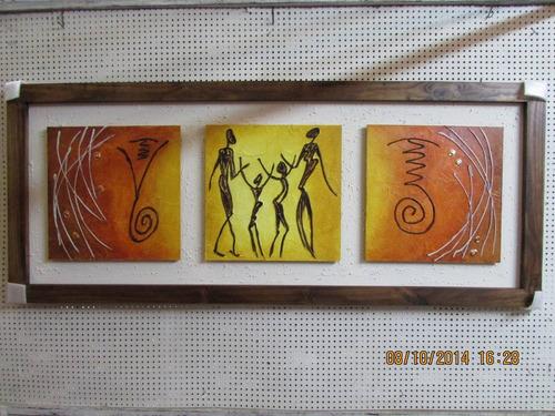 cuadros modernos tripticos enmarcados parejas  y familia