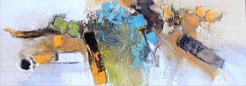 cuadros modernos tripticos lienzo al oleo 120x40cm!