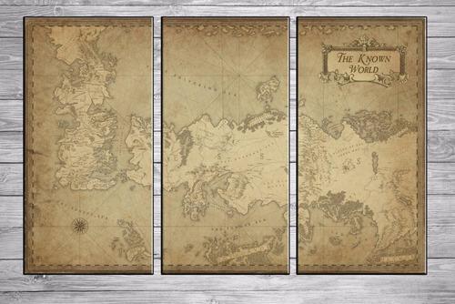 cuadros modernos tripticos mapa game of thrones 90x57 cm a01