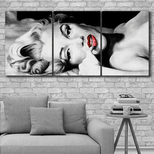 cuadros modernos tripticos marilyn monroe 180x84cms mm06