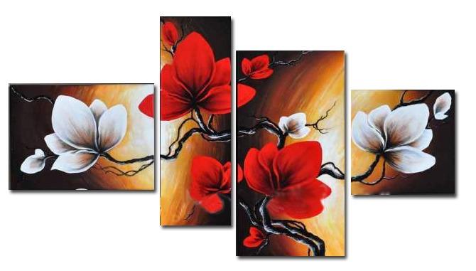 cuadros modernos tripticos polipticos florales