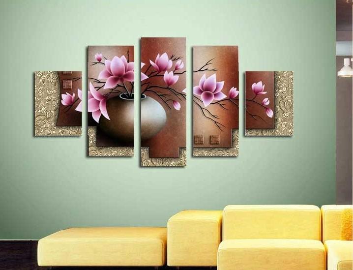 Cuadros Modernos Tripticos Polipticos Florales Relieve 2178 - Cuadros-en-relieve-modernos