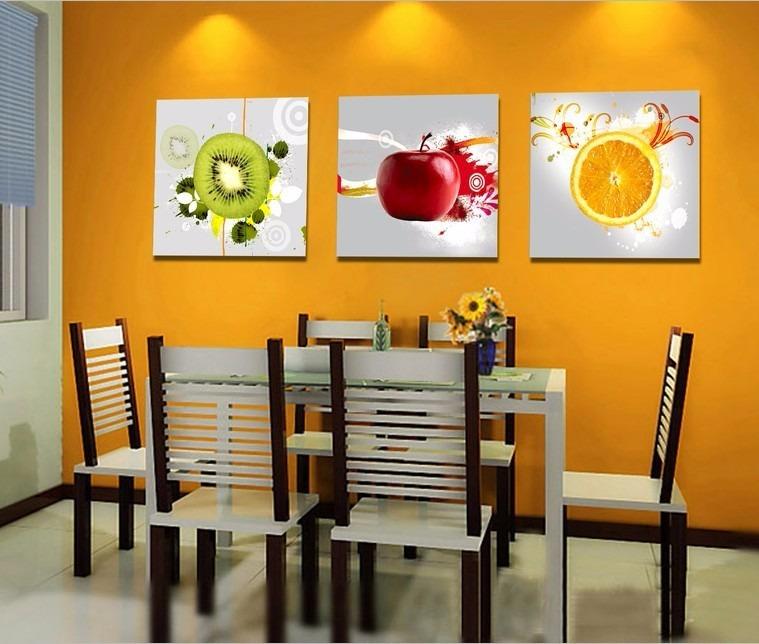 cuadros cocina comedor pintados