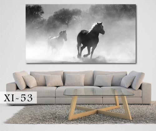 cuadros murales 150x80 abstractos caballos modernos