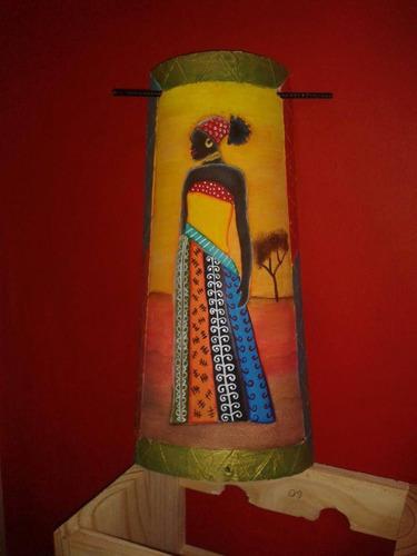 cuadros  negras africanas en tejas lupe art precio x 3 unid