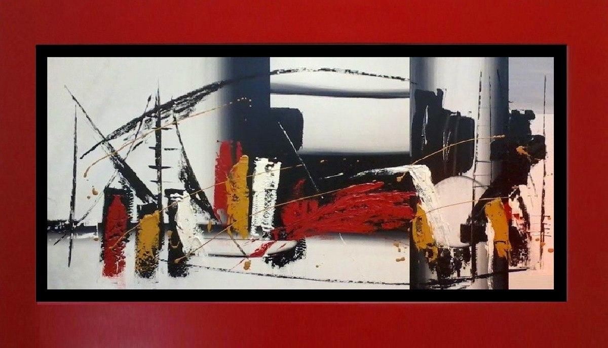 Cuadros negro blanco rojo grises estilo moderno s Marcos de cuadros blancos