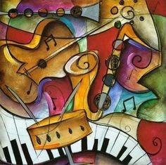 cuadros oleo acrílicos a mano polipticos, tripticos musica
