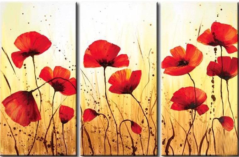 Cuadros oleos y acrilicos flores modernas en - Cuadros flores modernas ...