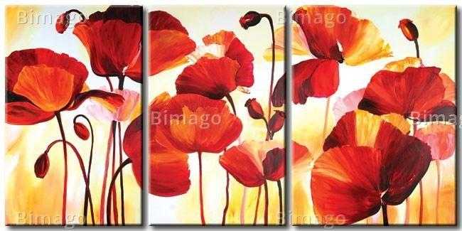 Cuadros oleos y acrilicos flores modernas en mercado libre - Bimago cuadros modernos ...