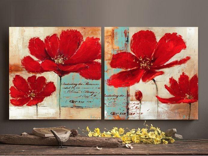 Cuadros Oleos Y Acrilicos Flores Modernas 65 000 En Mercado Libre