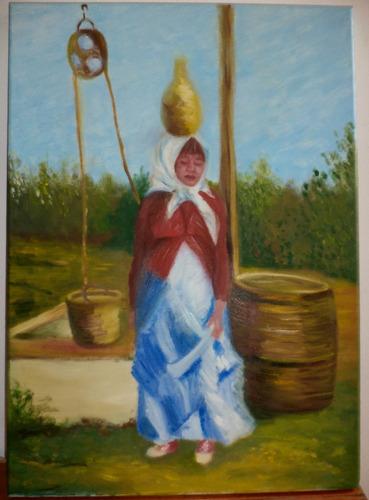 cuadros originales pintados a mano - agua y vida