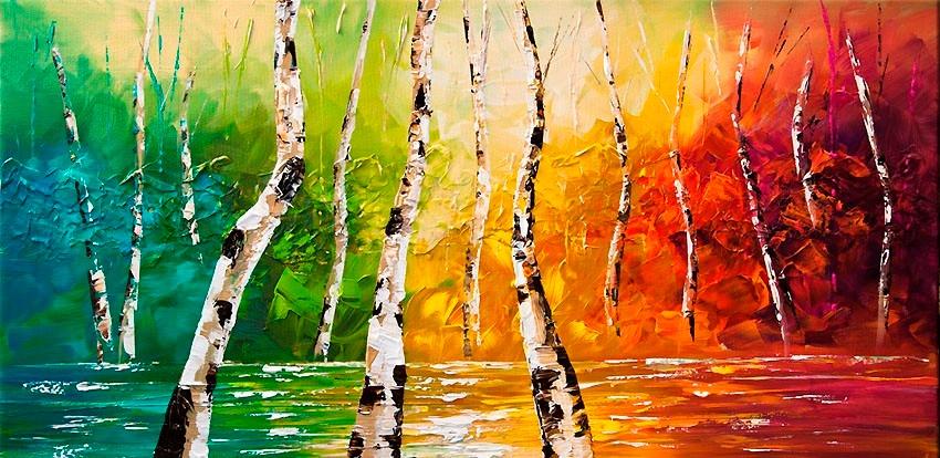 cuadros paisajes coloridos 1 en mercado libre On cuadros grandes coloridos