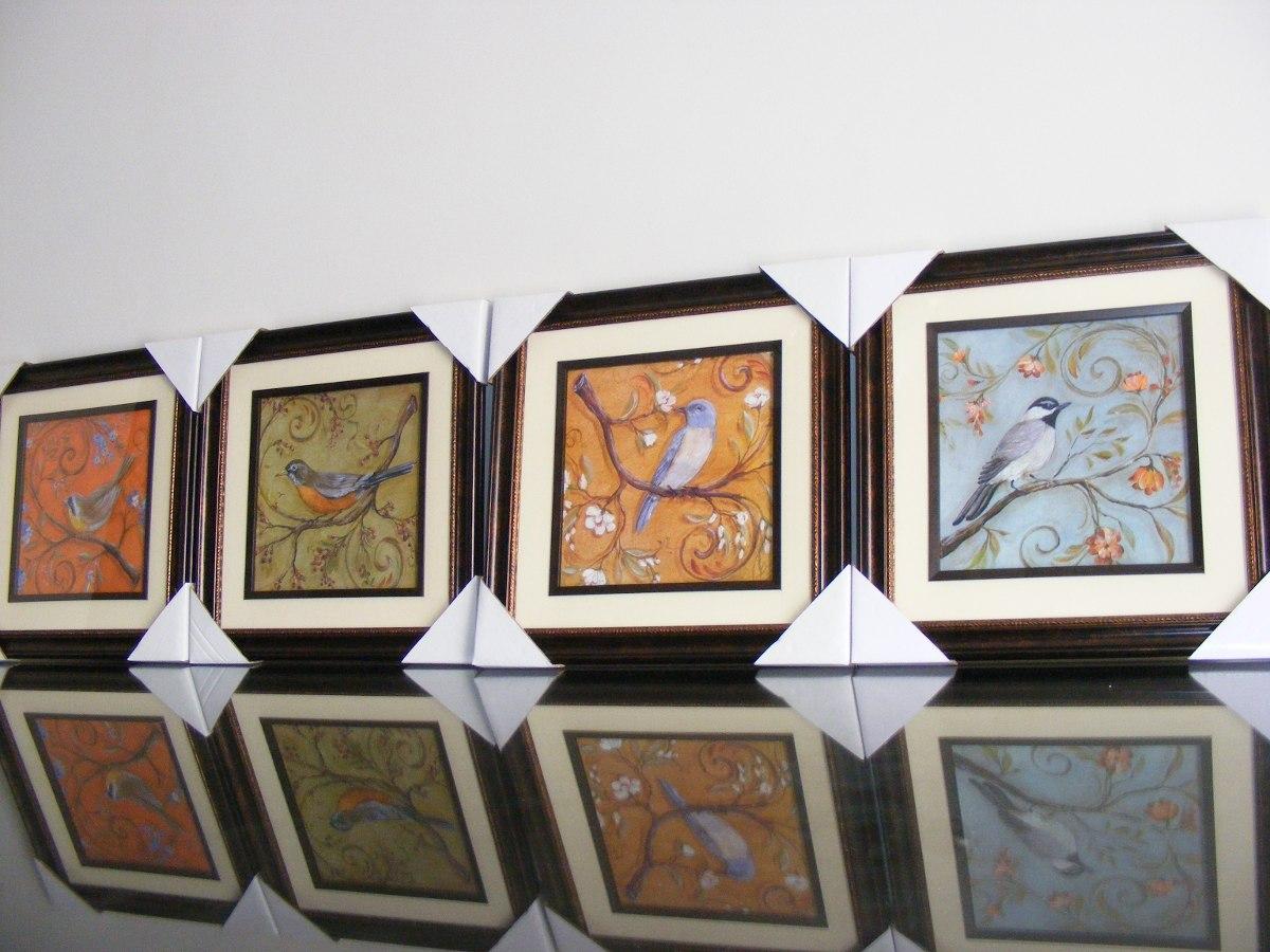 ... Home Interiors Cuadros Cuadros Pajaros Home Interiors 4 Pzas 1 200 00  En Mercado Libre ...
